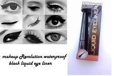 Maquillaje Revolution increíble impermeable Negro Delineador Líquido Negro Delineador de ojos