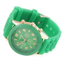 Women's Green Analog Sports Wrist Watch with Silicone Jelly Band - Casual Watch