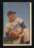 """1953 Bowman Color #129  Russ Meyer  Dodgers   """"No creases!!""""   LOOK!!!"""