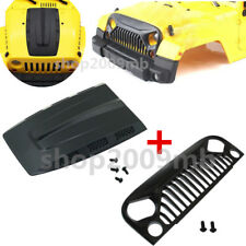 1:10 RC Nylon Angry Eyes Grill & Engine Cover Hood For Jeep Body RC Car Wrangler