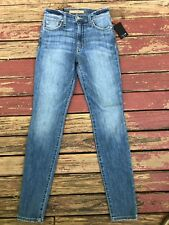 New $175 JOE'S JEANS Size 24 HIGH RISE SKINNY ANKLE Blue Light Wash