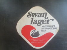 """1 only SWAN Brewery ,Swan Lager """" Swan Hotels """" 1972 Issue  BEER Coaster"""