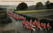 POSTCARD MILITARY -  SOMERSET LIGHT INFANTRY MARCHING TO BORDON CAMPS