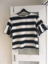 M & S Blue And White Striped Top 14