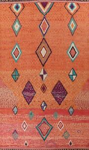Geometric Tribal Moroccan Oriental Area Rug Hand-knotted Plush Wool Carpet 10x15