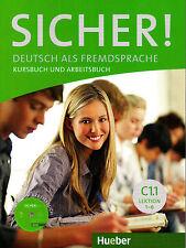 HUEBER Sicher! Kursbuch &Arbeitsbuch C1.1 Lektion 1-6 MIT CD zum Arbeitsbuch NEW