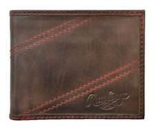 Rawlings Baseball Two Strikes Bi-fold Leather Brown Wallet, RL190