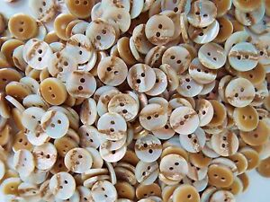 APPROX 100 FAUX MOTHER OF PEARL BABY KNITWEAR CRAFT BUTTONS 11 or 13mm