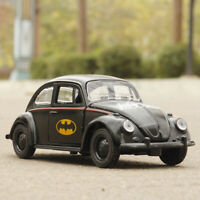 Batman Pattern VW Beetle 1:32 Model Car Diecast Gift Toy Vehicle Black for Kids