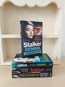 Collection of 4 x Paperback Books Crime - Gemma Rogers, Caro Savage, Riches NEW