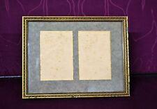 ancien cadre photo double en bois doré