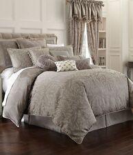 NIP Waterford Linens Montaigne Platinum 7pc Queen Comforter Set