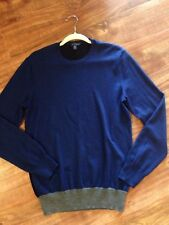 Merino Wool Sweater Gap Men Women Long Sleeve Crew Neck Unisex Blue Black M