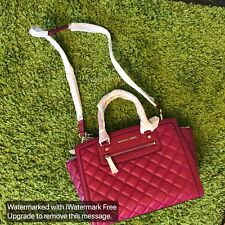 NWT $398 Michael Kors Large Quilted Selma Satchel In Deep Pink