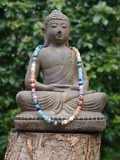 "Healing Chakra Rainbow Necklace - Gemstone & Crystal 17"""