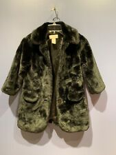 Girls 5T Fur Coat, Fun Fur, Black Line Vintage Wonder Kids