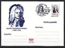 Romania, 1999 issue. 29/DEC/99. Composer G. Handel cancel on Postal Card.