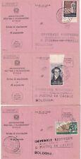1952 set of three different uses individual on receipt L. 25 Vanvitelli +