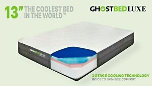 """GhostBed Luxe 13"""" Gel Memory Foam Luxury Mattress in a Box, Made in the USA"""