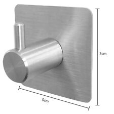 Stainless Steel Kitchen Bathroom Wall Hat Coat Towel Hanger Rack Hook up OT8P