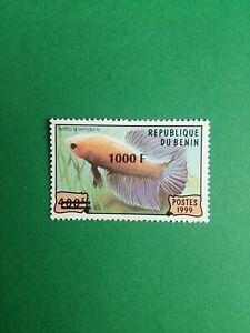 Bénin surchargé overprint 1000f sur 400f neuf MNH Poisson