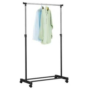5 FT Rail Commercial Clothing Garment Display Rolling  Hanger Dryer Shoe Rack
