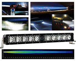 "22"" Laser Projector Light Bar Osram LED Single Row DRL Offroad Truck UTV Marine"