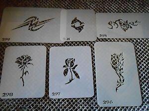 Airbrush Temporary Tattoos Stencil Set #59 Tribal Roses New Island Tribal!