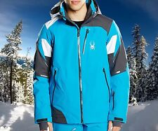 Spyder Men's Leader - Size XS Electric Blue Waterproof Insulated Ski Jacket $450