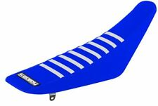 Yamaha YZF 450 2010 - 2013 Ribbed Gripper Seat Cover Blue White Ribs Motocross