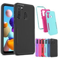 For Samsung Galaxy A01 A21 A11 Shockproof Rugged Hybrid Armor Rubber Case Cover