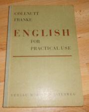 Escolar presencia escolar + English for practical use + +1955 + + educación de adultos
