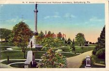 N.Y. STATE MONUMENT and NATIONAL CEMETERY GETTYSBURG, PA 1937