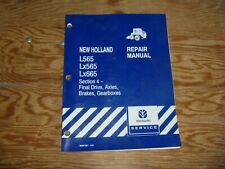 New Holland L565 LX565 LX665 Skid Steer Loader Axle Brakes Service Repair Manual