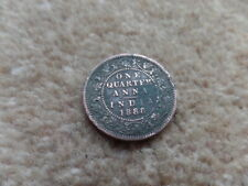 Old Collection Queen Victorian  Anna INDIAN Coin 1888 , 25 mm. Very Good Gift!