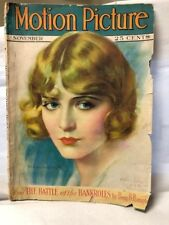 Motion Picture Magazine Nov 1927 Hollywood Entertainment Vilma Banky
