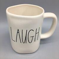 Rae Dunn LAUGH Coffee Mug Original Big M Stamp Logo Magenta LL Farmhouse NEW