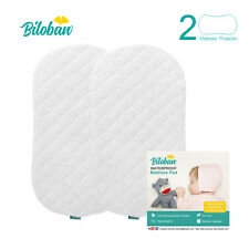 Bamboo Bassinet Mattress Pad Cover Fits for Halo Bassinest 2 Pack Waterproof