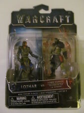 Warcraft Mini Figure 2-Pack Set - Lothar vs. Horde Warrior - Sealed - Light Wear