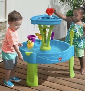 Step2 Summer Showers Splash Tower Water Table 8 Piece Brand New