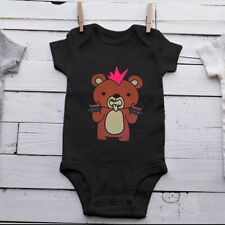 Pink Punk Rock Teddy Bear Bodysuit Black or White One Piece Baby Girl Baby Gift