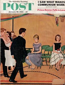 1960 Saturday Evening Post January 30 - Baseball players at Cooperstown; Dance