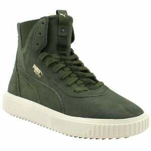 Puma Breaker Hi Evolution Lace Up  Mens  Sneakers Shoes Casual   - Green - Size