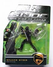 2009 Snake Eyes - Mint on Card - Rise of Cobra - Metal Keychain