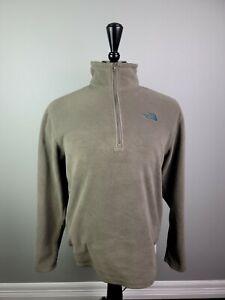 The North Face Men's 1/4 Zip Fleece Lightweight Tan Jacket Pullover Size Medium
