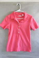 W6327 Lady Hathaway Womans Coral Med. Short Sleeve 1/2 Button Polo Shirt