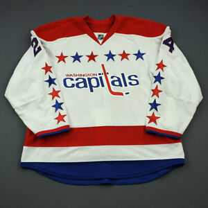 2013-14 Aaron Volpatti Washington Capitals Game Issued Hockey Jersey MeiGray NHL