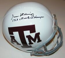 Gene Stallings Signed Texas A&M Full Size Helmet w/68 Cotton Bowl Champs - Proof