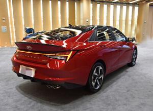 ABS Factory Style Rear Trunk Spoiler Wing for 2021 Hyundai Elantra Black