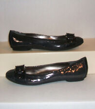 SOFFT Women's Shiny Snake-Print Leather Flat Dress Loafers Slip-Ons Shoes SZ 9 M
